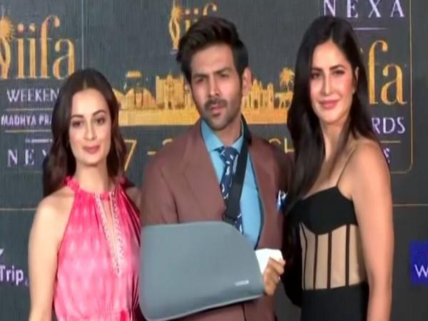 Dia Mirza, Katrik Aaryan and Katrina Kaif