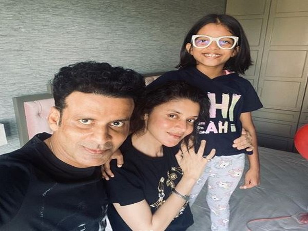 Manoj Bajpayee with wife Neha and daughter Ava (Image courtesy: Instagram)
