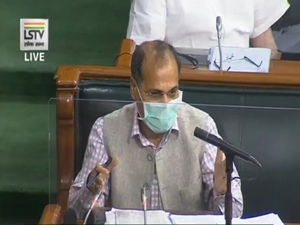Congress MP Adhir Ranjan Chowdhury speaking in Lok Sabha on Sunday.