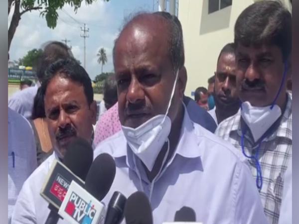 Former Karnataka Chief Minister HD Kumaraswamy (Photo/ANI)