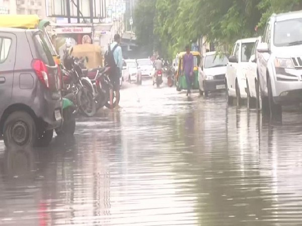 A visual of a street in Ahmedabad  on Tuesday. Photo/ANI