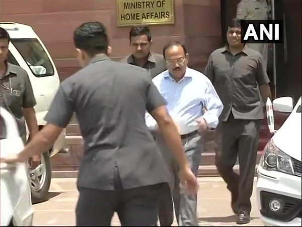 National Security Advisor (NSA) Ajit Doval while leaving from MHA in Delhi
