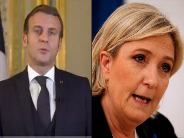 French President Emmanuel Macron and National Rally party president Marine Le Pen.