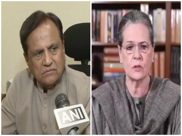Congress leader Ahmed Patel and party interim chief Sonia Gandhi. (File photo)