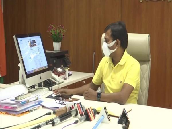 Ahmedabad District Collector KK Nirala speaking to Media on Friday. Photo/ANI