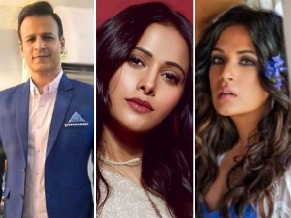 Vivek Oberoi, Nushrat Bharucha and Richa Chadha (Image courtesy: Twitter)