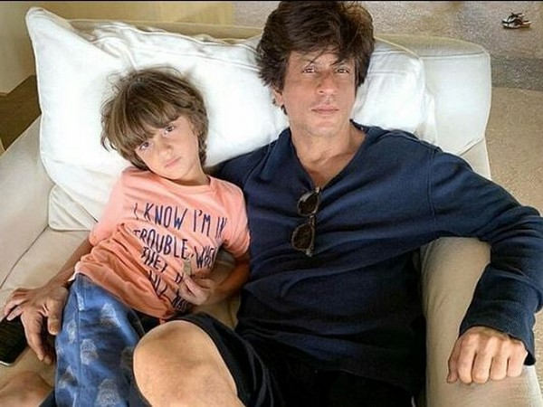 AbRam Khan with father Shah Rukh Khan (Image courtesy: Instagram)