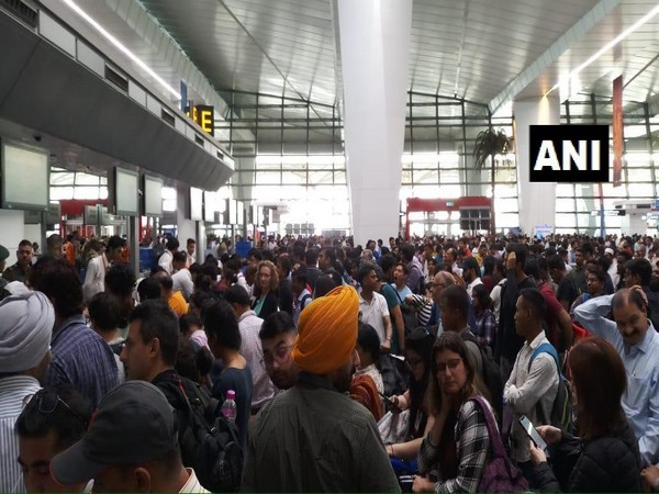 Air India passengers stranded at IGI airport in Delhi after glitch in the airline's server.