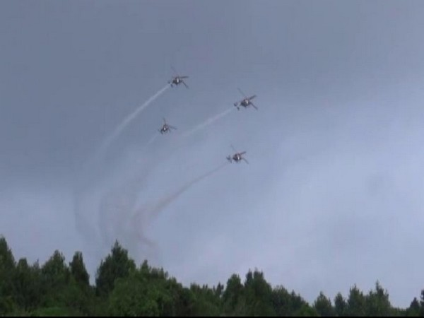 A view of air fest organised by the IAF at Advance Landing Ground (ALG) in Upper Shillong on October 19. Photo/ANI