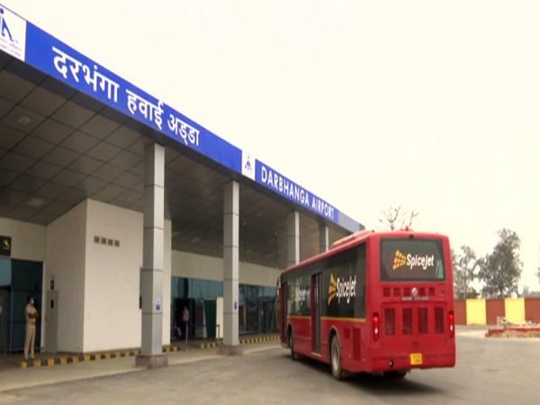 Visual from Darbhanga Airport in Bihar (Photo/ ANI)