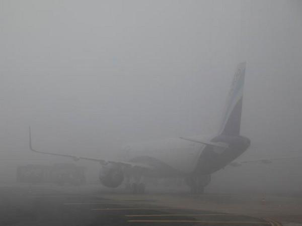Dense fog enveloped Kathmandu airport on Saturday morning. (File photo)