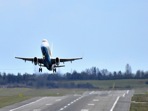 The tyre burst forced the aircraft to remain suspended on the runway, resulting in the delay of several flights.
