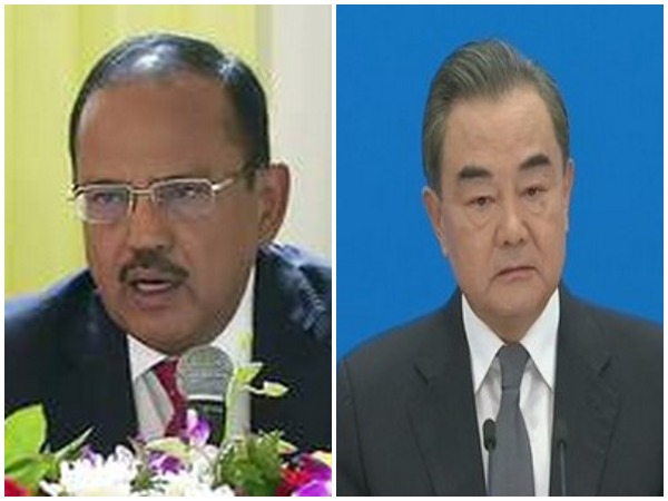 NSA Ajit Doval (L) and Chinese Foreign Minister and State Councilor Wang Yi (R)