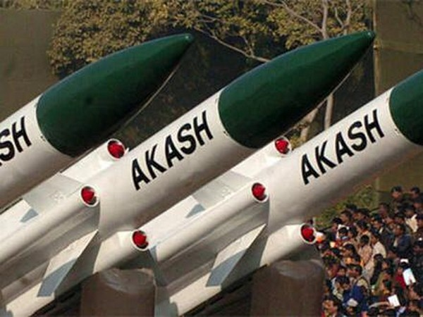 File pic of the Akash air defence missile system