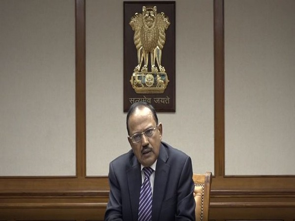 NSA Ajit Doval speaking at the event.