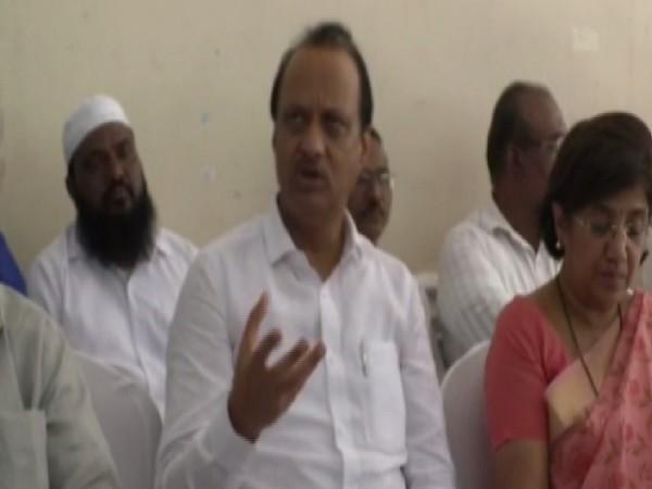 Senior NCP leader Ajit Pawar at a public meeting in Puney.