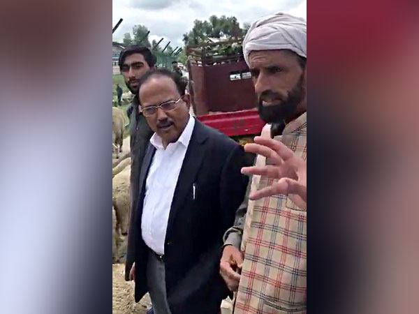 NSA Ajit Doval while interacting with locals in J-K during his visit to Valley in August. (File photo)