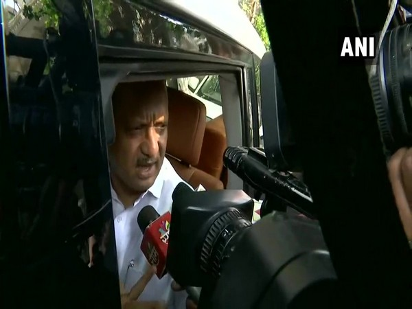 NCP leader Ajit Pawar speaking to media after a meeting of party leaders here on Thursday. Photo/ANI