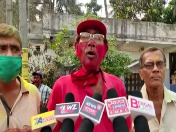 CPI (M) leader Tapas Chakraborty speaking to media on Monday. (Photo/ANI)