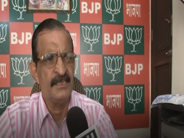 BJP leader Anil Sarin speaking to ANI in Ludhiana on Sunday. [Photo/ANI]