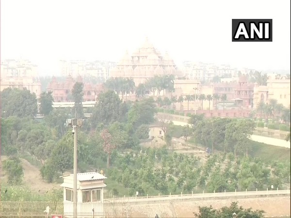 Visuals around Akshardham in the national capital (Photo/ANI)