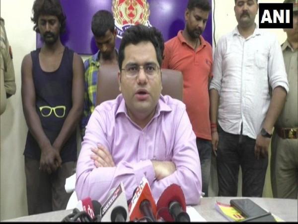 SP Barabanki Akash Tomar briefing media on Monday