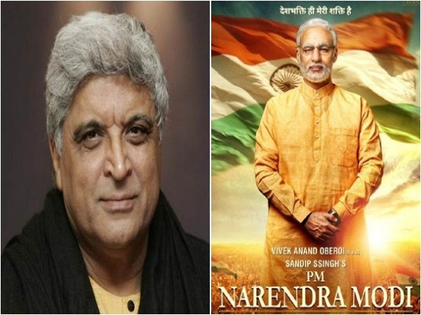 Javed Akhtar and 'PM Narendra Modi' poster, Image courtesy: Instagram