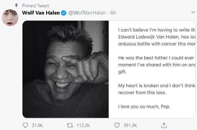 Eddie Van Halen, rock legend and guitar hero, dies at 65