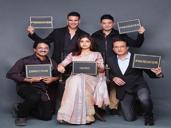 Akshay Kumar, Bhushan Kumar, Ashok, Bhumi Pednekar and Vikram Malhotra (Image courtesy: Instagram)