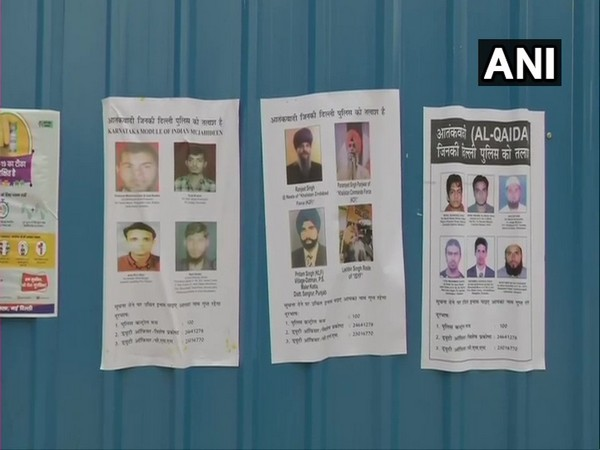 Delhi Police has put up posters of unwanted terrorists in Connaught Place area