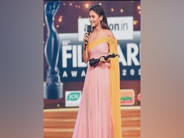 The 26-year-old star posted a picture of herself standing on the stage with the coveted trophy resting in her hand (Picture courtesy: Instagram)