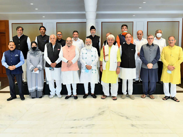 14 prominent leaders from the Union Territory attended all-party meeting with PM Narendra Modi. (photo/ANI)