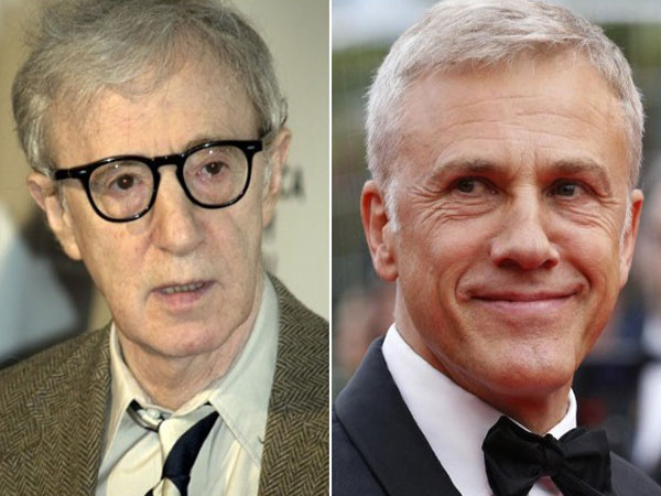 Woody Allen and Christoph Waltz