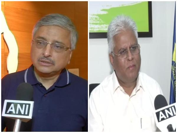 Randeep Guleria, Director at AIIMS (left) and Dr Ranjan Sharma, IMA president