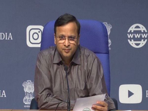 Joint Secretary, Health Ministry Lav Aggarwal addressing press conference in New Delhi on Wednesday. Photo/ANI