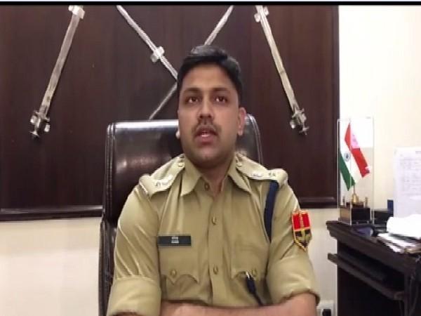 Superintendent of Police Alwar, Anil Paris Deshmukh speaking to media in Rajasthan on July 19.