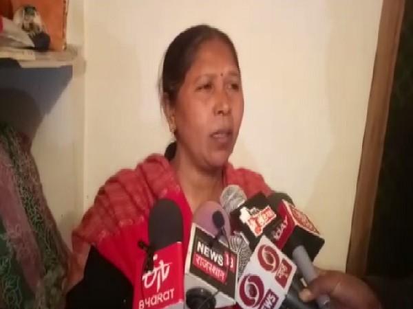 Padma award winner Usha Chaumar speaking to media in Alwar, Rajasthan.