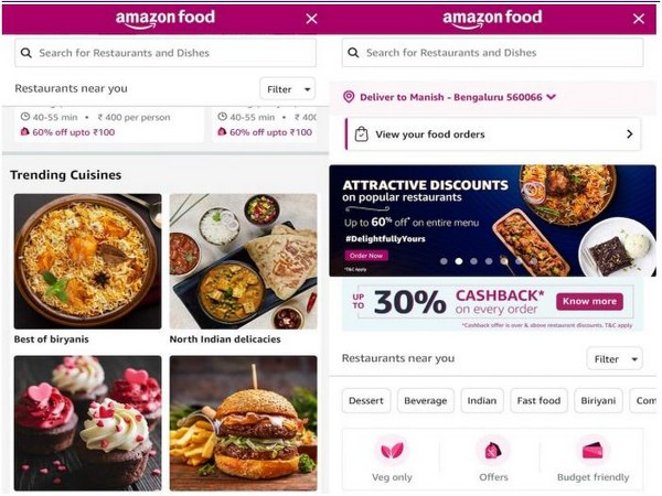 Amazon's entry into public food delivery market is currently limited to Bengaluru