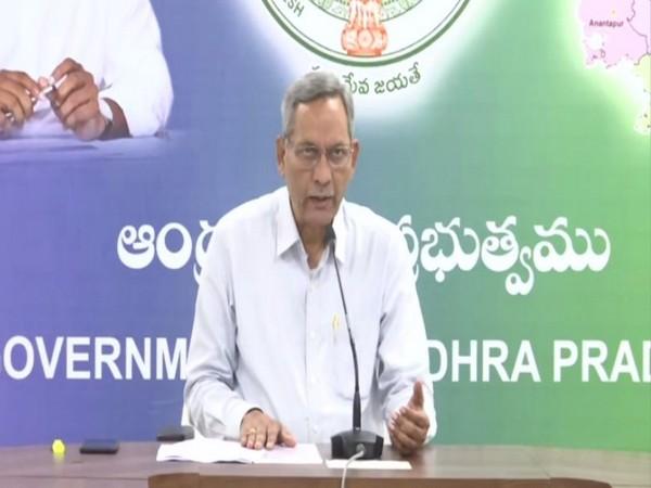 K Ramachandra Murty speaking at a press conference in Amaravati on Friday. Photo/ANI