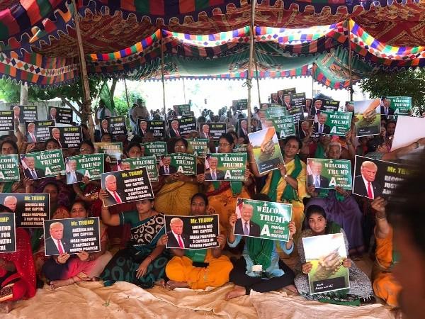 Protest in Amaravati region against three capitals in Andhra Pradesh.