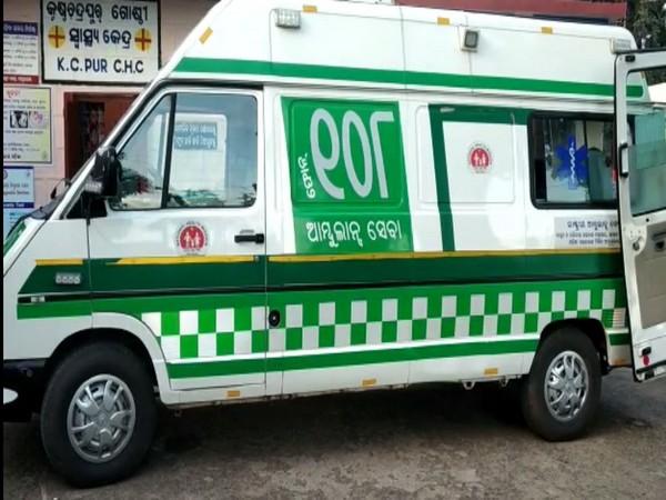 108 ambulance in Mayurbhanj, Odisha (Photo/ANI)