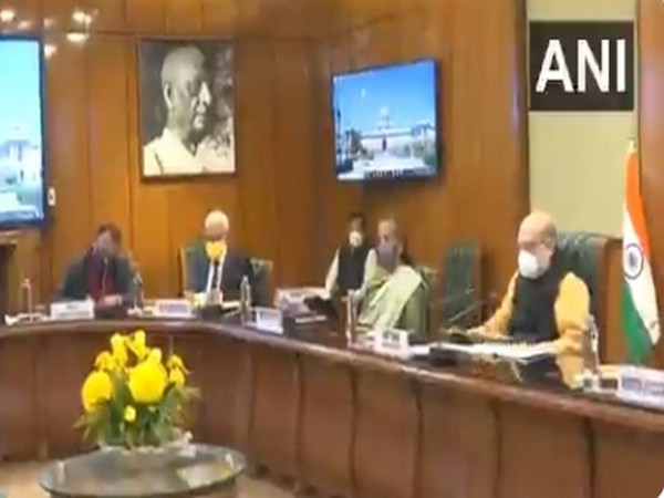 Union Home Minister Amit Shah and Finance Minister Nirmala Sitharaman at the meeting. Photo/ANI