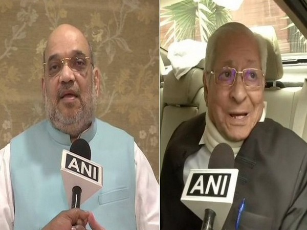 Home Minister Amit Shah and former Attorney General Soli Sorabjee. (Photo/ANI)