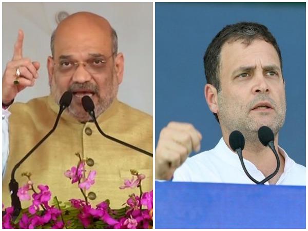 BJP president Amit Shah and Congress leaders Rahul Gandhi