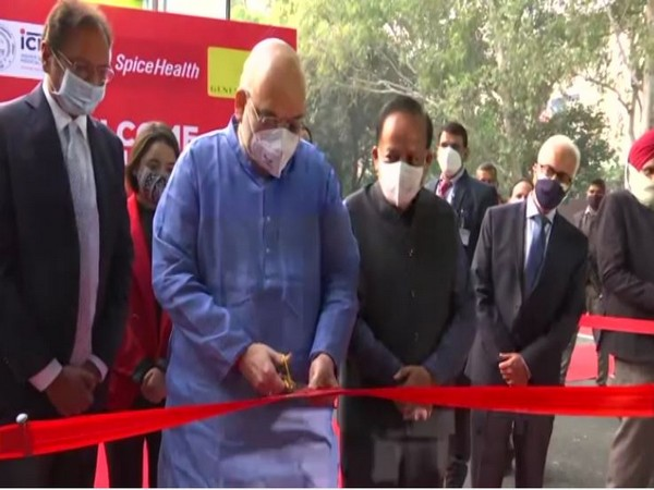 Union Home Minister Amit Shah inaugurated a mobile RT-PCR lab at ICMR in Delhi on Monday. (Photo/ANI)