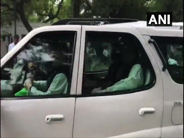 Union Home Minister Amit Shah leaves from 7 Lok Kalyan Marg after the Union Cabinet meeting concludes.