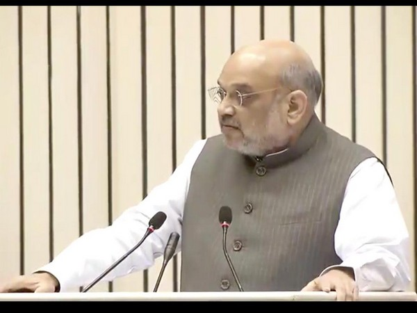 Union Home Minister Amit Shah addressing the 14th annual convention of the Central Information Commission in New Delhi on Saturday. Photo/ANI