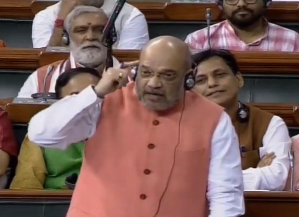 Union Home Minister Amit Shah speaking in Lok Sabha on Tuesday