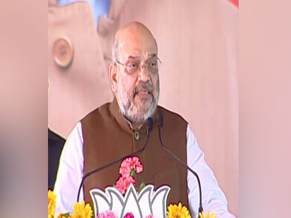 BJP president Amit Shah addressing public rally at Garhwa Jharkhand on Thursday