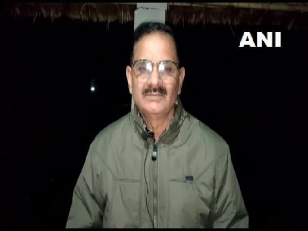 ASP Ajay Pratap speaking to reporters in Amroha in Uttar Pradesh.